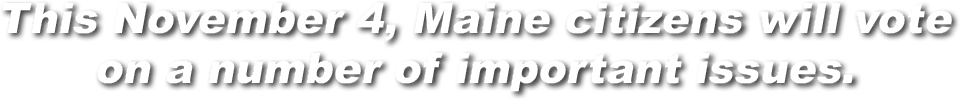 This November 4, Maine citizens will vote on a number of important issues.